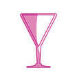 cocktail glass cup vector image