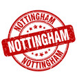 nottingham red grunge round vintage rubber stamp vector image