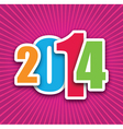 2014 pink vector image