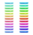 Download buttons set in different colors and two vector image
