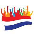 Netherlands fans vector image vector image
