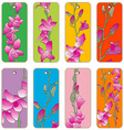 orchids price tags vector image vector image