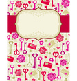 beige valentine background with heart and roses vector image