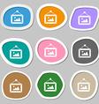 picture symbols Multicolored paper stickers vector image
