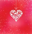 valentine hanging heart vector image vector image