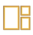 set of golden frames vector image