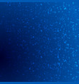 dark blue shiny bokeh particles background vector image