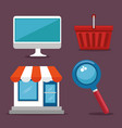 e-commerce icon set vector image