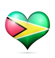 Guyana Heart flag icon vector image