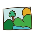picture of landscape icon vector image