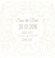 save the date card template - wedding vector image