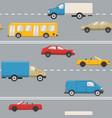 urban transport seamless pattern vector image