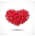Valentines Day card with heart made of scattered vector image
