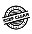 Keep Clean rubber stamp vector image