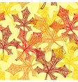 Seamless backgroun autumn vector image