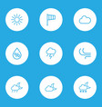 nature outlines set collection of cloud drop vector image