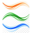 abstract elegant light waves set vector image