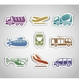 flat retro color stickers - set thirteen vector image