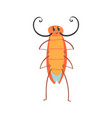 cute cartoon funny cockroach character vector image vector image