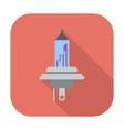 Xenon car lamp flat icon vector image vector image