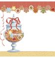 Christmas cookies in glass vase vector image