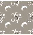 Grunge circles on a white coffee background vector image