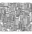 seamless pattern of city vector image vector image