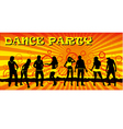 Dance party ticket yellow vector image vector image