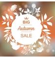Big Autumn Sale Banner vector image