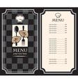 Black menus vector image
