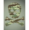 Camouflage skull applique vector image