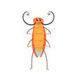 cute cartoon funny cockroach character vector image