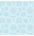 Doodle circle water texture seamless pattern vector image
