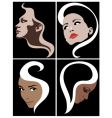 girl face symbol vector image