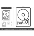 Hard drive disk line icon vector image
