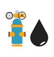 Oil black drop and some gas vector image
