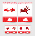 poster of donate with symbol on it in red color vector image