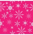 seamless snowflakes background vector image