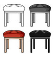 stool icon in cartoon style isolated on white vector image