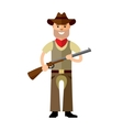 Cowboy with rifle Flat style colorful vector image