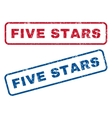 Five Stars Rubber Stamps vector image