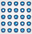 Media button blue vector image