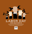 Labor day simply and clean conceptual vector image vector image