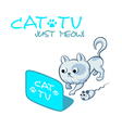 Cat TV symbol vector image vector image