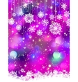 Colorful background with snowflakes EPS 8 vector image