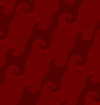 Red curved diagonal lines textured with emboss vector image vector image