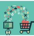 Internet shopping vector image vector image