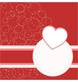 valentines invitation card vector image