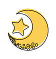 cute moon with star vector image