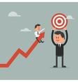 Goal achievement concept Motivation concept to be vector image